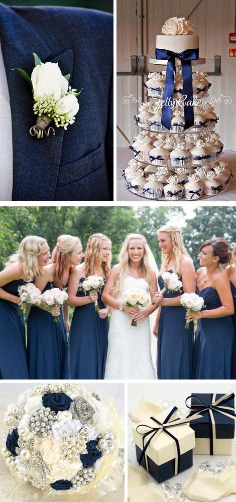 Matrimonio Avorio e Blue Navy