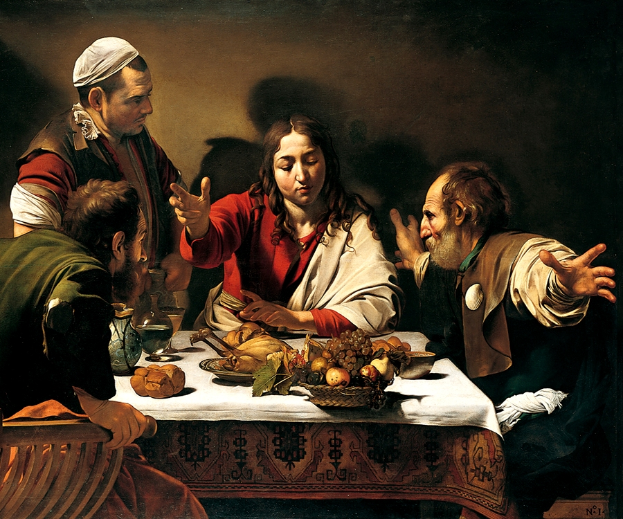 Caravaggio - Dinner in Emmaus 1601 Oil on Canvass 141x196,2 cm