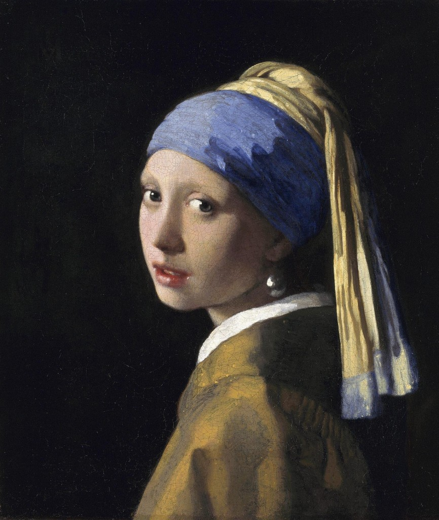 Girl with a pearl earing - Jan Vermeer 1665-1666 oil on canvass 44,5x39cm