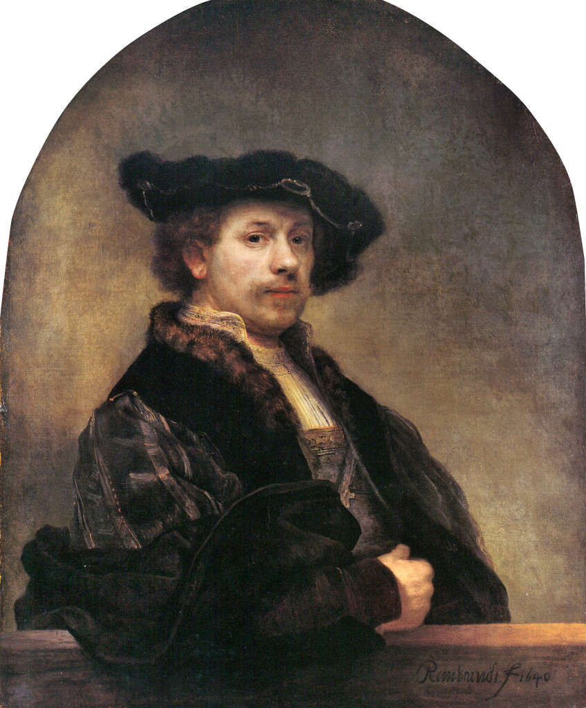 Rembrandt - Self portrait 1640 Oil on Canvass 93x80cm