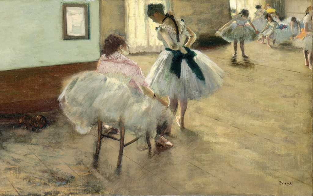Edgar Degas (French, 1834 - 1917 ), The Dance Lesson, c. 1879, oil on canvas, Collection of Mr. and Mrs. Paul Mellon