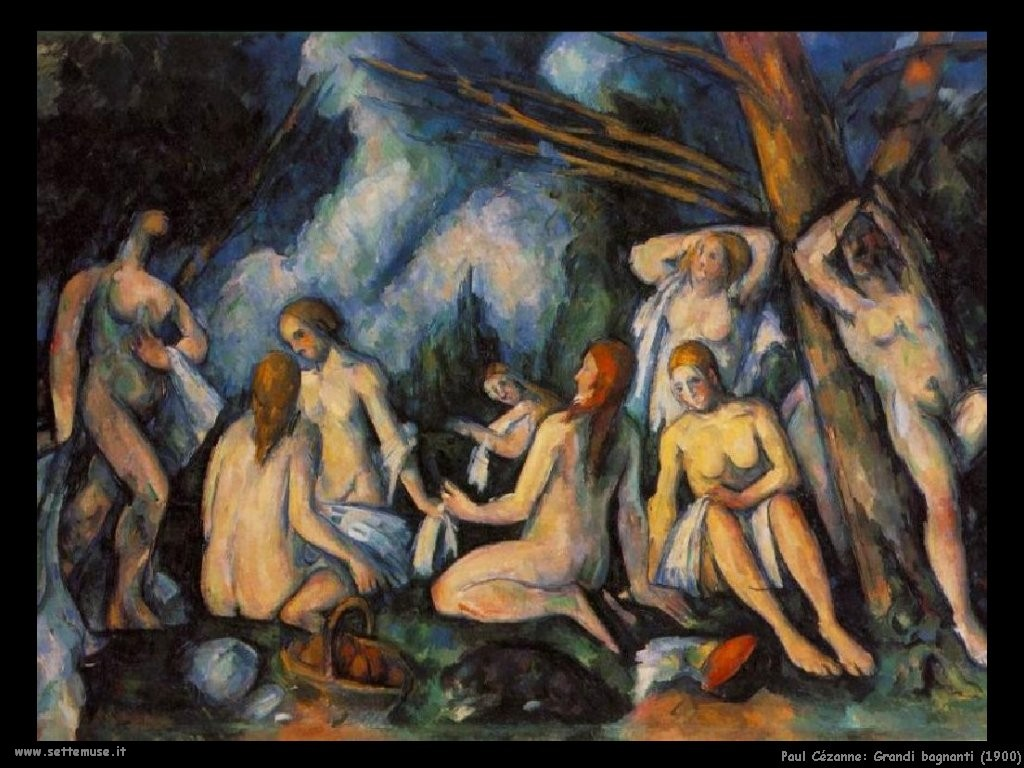 Paul Cézanne Grandi Bagnanti